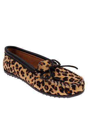 Minnetonka Full Leopard Moc 387F Kadın Ayakkabı Full Leopard