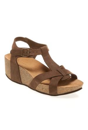 Frau Nabuk 59G8 Kadın Ayakkabı Kahverengi