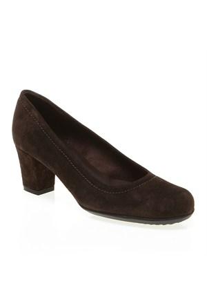 B1 Frau Velour 58 Kadın Ayakkabı Kahverengi