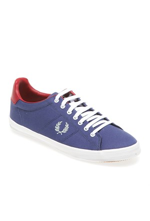 Fred Perry Howells Brushed Twill B5204W Kadın Ayakkabı 685 Pacific/ Silver Blue/ Ross