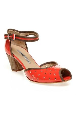Ve Manas 131L5512 Kadın Ayakkabı Vernıce Rosso