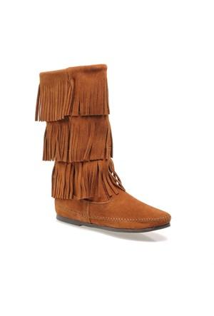 Minnetonka Calf Hi 3Layer Boot 1632 Kadın Ayakkabı Kahverengi