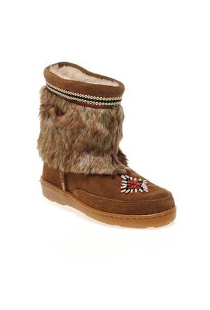 Minnetonka Mukluk Low 3773 Kadın Ayakkabı Dusty Brown Suede