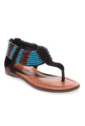 Minnetonka ibiza 71301 Kadın Ayakkabı Black Suede W Turq Beads