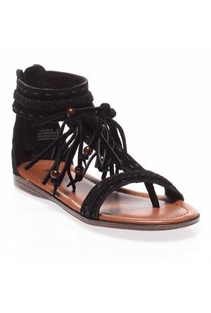 Minnetonka Belize 71300 Kadın Ayakkabı Black Suede