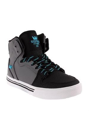 Kids Vaider-Charcoal / Black / Turquoise - White Sk11239 Çocuk Ayakkabı Charcoal/Black - Whıte
