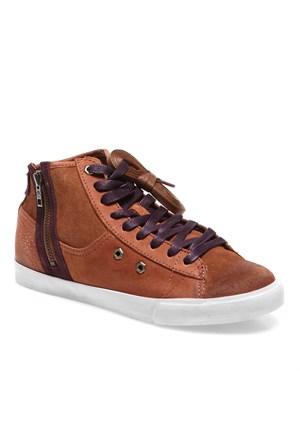 Timberland Glastenbury Sneaker Side Zip Chukka 8437A Kadın Bot Kahverengi
