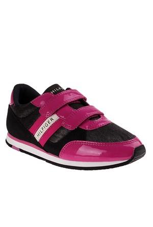 Tommy Hilfiger Fg56819751 Çocuk Ayakkabı Black Fuschıa