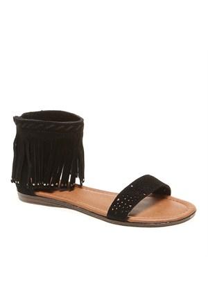 Minnetonka Malibu 71316 Kadın Ayakkabı Black Suede