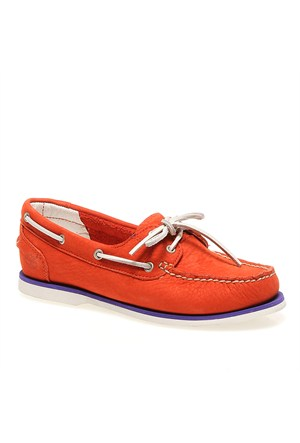 Timberland Ek Classic Boat Oran Orange 8860R Kadın Bot Orange