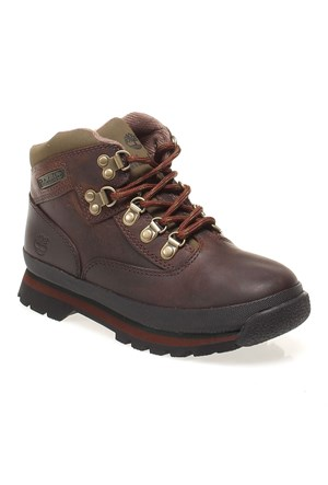 Timberland Euro Hiker Brown Sm 3075R Çocuk Bot Brown Smooth