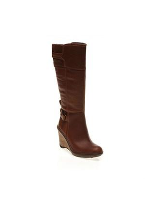 Timberland Stratham Heights Wedge Tall Boot 3624R Kadın Bot Kahverengi