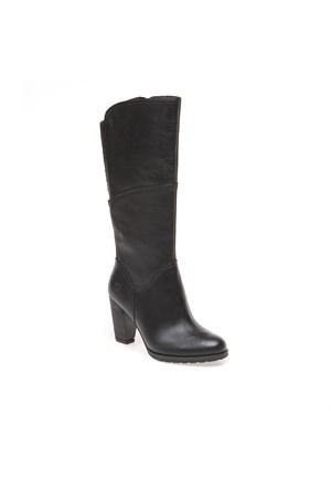 Timberlandek Stratham Heights Tall Zip Wp Boot 8610A Kadın Bot Siyah