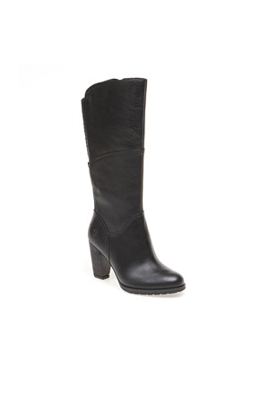 Timberland Stratham Heights Tall Zip Wp Boot 8610A Kadın Bot Siyah