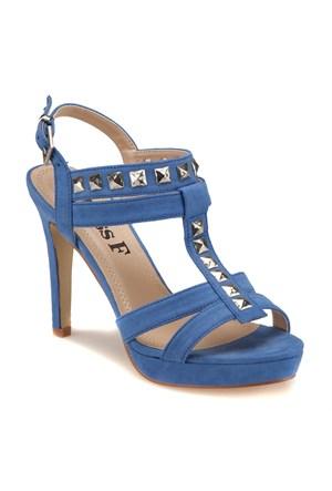 Miss F F18024 Mavi Kadın Sandalet
