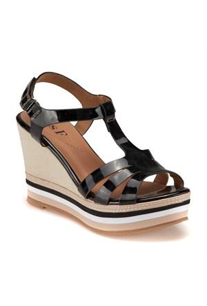Miss F F18043 Siyah Kadın Sandalet