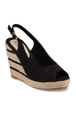 Miss F F18047 Siyah Kadın Sandalet