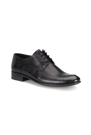 Down Town 860 M 1492 Siyah Erkek Deri Ayakkabı