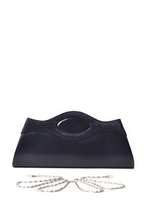 Simalore 8007-4 Deri-Siyah Abiye Çanta