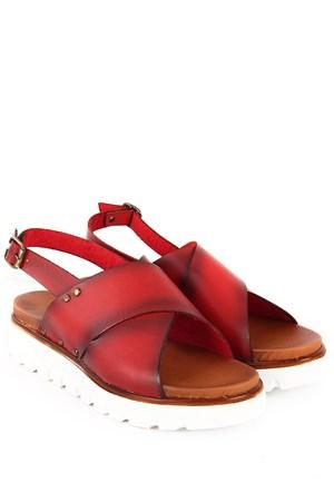 Gön Kadın Sandalet 45850 Kırmızı Antik
