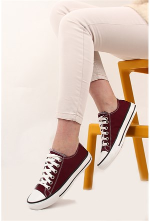 Gön Trend Ayakkabı 35992 Bordo Keten
