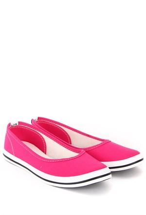 Gön Kadın Ayakkabı 35998 Fuşya Keten
