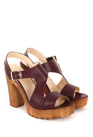 Gön Kadın Sandalet 36132 Bordo
