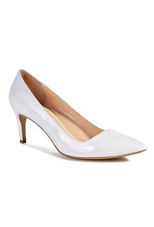 Desa Kadın Rugan Deri Ayakkabı Beyaz