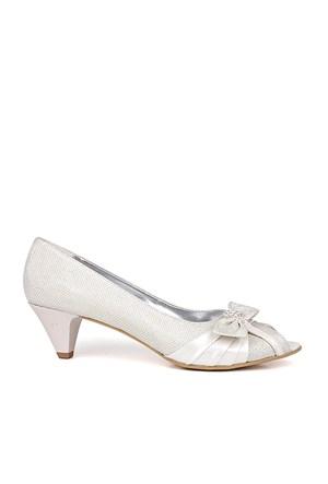 Loggalin 012632 031 351 Kadın Beyaz Abiye Ayakkabı