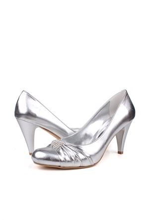 Loggalin 520277 031 769 Kadın Silver Abiye Ayakkabı