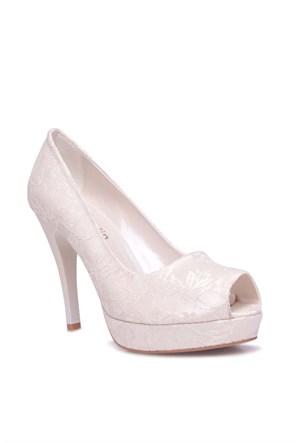 Loggalin 580912 031 966 Kadın Beyaz Platform Ayakkabı