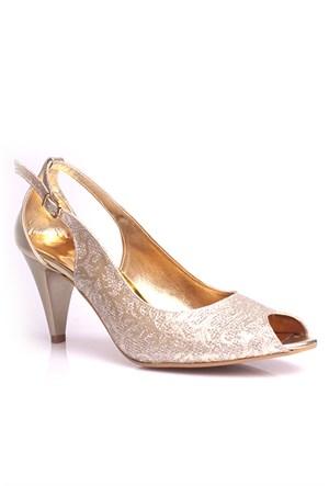 Loggalin 520680 031 723 Kadın Gold Abiye Ayakkabı