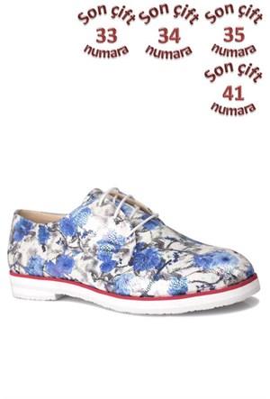 Loggalin 228921 010 990 Kadın Çiçek Desenli Ayakkabı