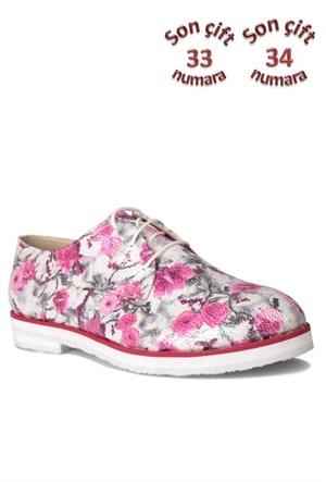 Loggalin 228921 010 970 Kadın Çiçek Desenli Ayakkabı