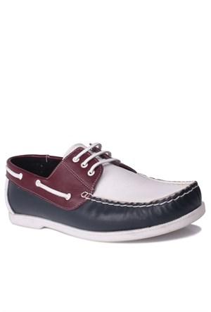 Kalahari 737001 041 455 Erkek Lacivert - Beyaz - Bordo Günlük Ayakkabı