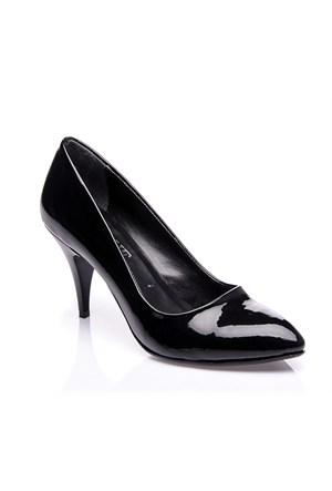 Sothe Mas-017 Siyah Kadın Klasik Topuklu Ayakkabı