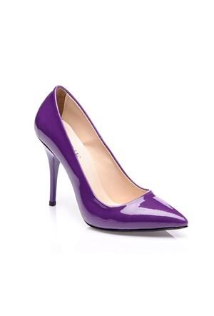 Sothe Zy-016 Mor Kadın Stiletto Ayakkabı