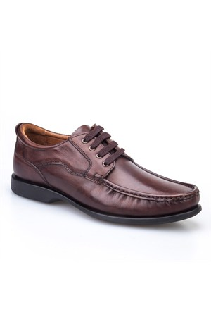 Cabani Bağcıklı Günlük Erkek Ayakkabı Kahve Sanetta Deri