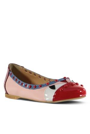 Marjin Leba Düz Ayakkabı Kırmızı