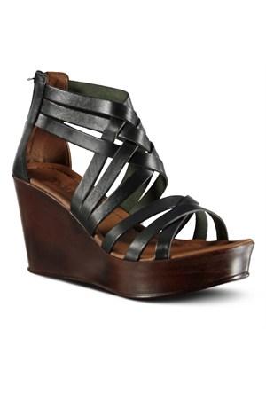 Marjin Esteban Dolgu Sandalet Siyah