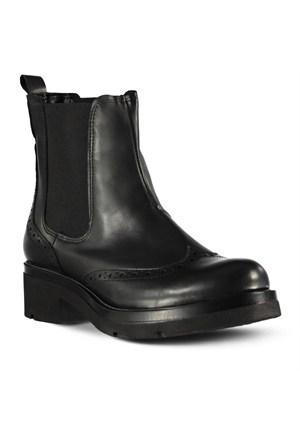 Marjin Cenlar Topuklu Bot Siyah