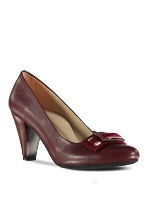Marjin Binase Topuklu Ayakkabı Bordo