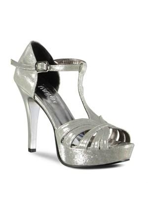 Marjin Milata Platform Ayakkabı Gümüş