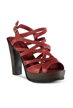 Marjin Akros Topuklu Ayakkabı Kırmızı