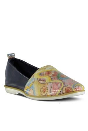 Marjin Arle Düz Ayakkabı Lacivert