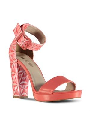 Marjin Gela Topuklu Ayakkabı Nar Çiçeği
