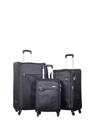 Verage Kumaş Valiz Vrg11013-Set-Siyah