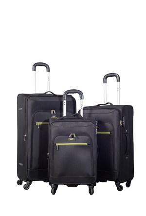 Ççs Kumaş Valiz Ççs5119-Set-Siyah