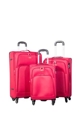 Ççs Kumaş Valiz Ççs5120-Set-Kırmızı