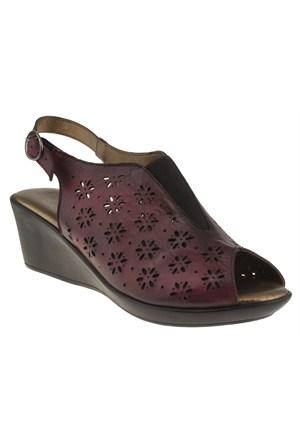 Floor 144 16-4214Z Bordo Ayakkabı